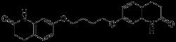 1,4-Bis[3,4-dihydro-2(1H)-quinolinon-7-oxy]butane