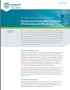 Going from Process R&D to Clinical APIs Quickly and Effectively